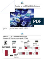 EPCOS Wireless Solution for UMTS WCDMA Systems