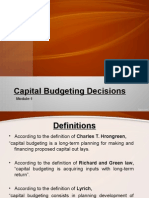 Capital Budgeting-theory and numericals