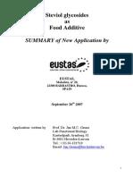 Steviol Glycosides Summary Application