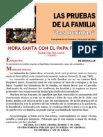 HORA SANTA CON EL PAPA. Las pruebas de la Familia. Las Heridas (20 y 21)
