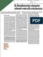 Unioni civili, rassegna stampa del 14.10.15