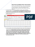 Petunjuk Pengisian Form Penilaian Peer Assesment
