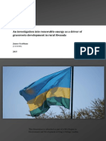 An investigation into renewable energy as a driver of grassroots development in rural Rwanda