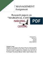 Marginal Costing