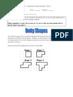 Yr 7 Key Homework (Term 2) Dotty Shapes(1)