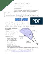 Yr 7 Key Homework (Term 4) - Angles in a Polygon