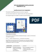 Conocimiento de Hardware e Instalación de Windows Xp Sp2