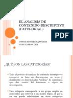 El Análisis de Contenido Descriptivo (Categorial).