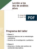 Introducción a Los Métodos de Análisis Cualitativo