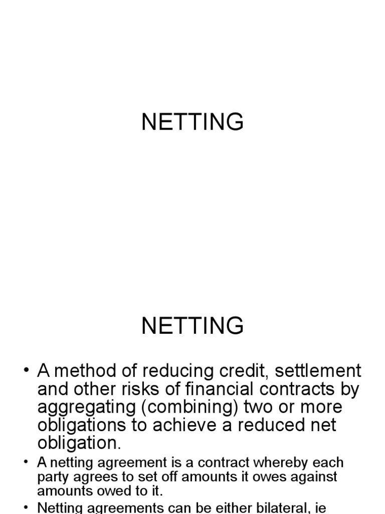 Netting Euro Credit Finance