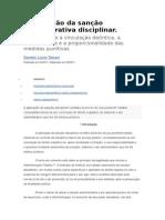 A Aplicação Da Sanção Administrativa Disciplinar