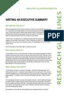 Writing an Executive Summary