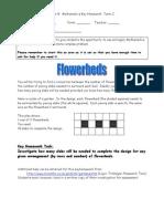 Yr 8 Key Homework (Term3) Flowerbeds(1)