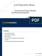 Water Meter Assessment Project Results and Recommendations