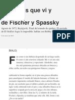 Fischer Spassky Por Cherquis Bialo E
