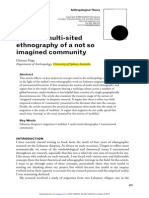 HAGE, G. a Not So Much Multi-sited Ethnography of a Not So Imagined Community (2005)