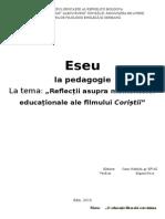 Eseu- Educația În Filmul Coriștii