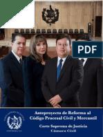 Reforma Al Codigo Procesal Civil y Mercantil Anteproyecto Guatemala