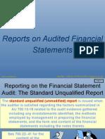 Audit I Reporting WF in Class