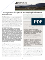 Management of Aspen in a Changing Environment