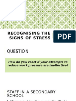 Recognising the Signs of Stress