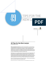 49 Tips for the New Lawyer