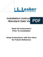 standard gate valves manual