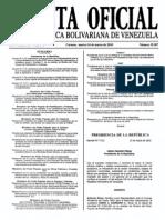 Sumario Gaceta Oficial 39.387