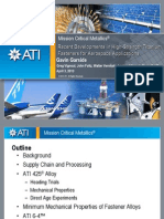 Recent Developments in High-Strength Titanium Fasteners for Aerospace Applications