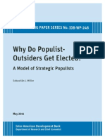 Why Do Populist-Outsiders Get Elected- A Model of Strategic Populists