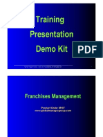 Demo of Franchise Management