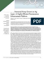 ZnO Nanorod Array Grown on Ag Layer
