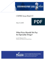 New Pricing Policy for Speciality Drugs 5.12.2015