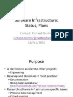 Software Infrastructure