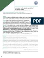 Versão Brasileira Do Questionário Estilo de Vida Fantástico- Tradução e Validação Para Adultos Jovens