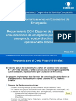 7.- Comunicaciones de Emergencia DCN