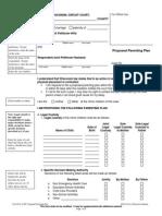 FA-4147 Parenting Plan