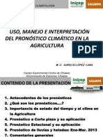 Uso-manejo Interpretacion Pronostico Agroclimático Car 2013