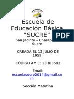 Propuesta Pedagocica - Sucre 1