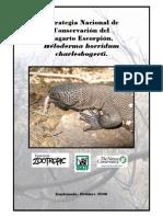 Estrategia Nacional de Conservacion Del Lagarto Escorpion, Heloderma 2008-2012