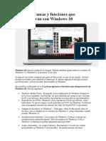 Ocho Programas y Funciones Que Desaparecerán Con Windows 10