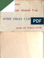 His Holiness Maharishi Mahesh Yogi Press Clippings From His World Tour - The Academy of Meditation Rishikesh