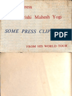 His Holiness Maharishi Mahesh Yogi Press Clippings From His World Tour - The Academy of Meditation Rishikesh