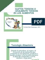 Teórico 12. Productos Toxicos o Potencialmente Toxicos