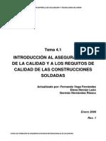 Introducion Al Aseguramiento de La Calidad y a Los Requisitos de Calidad de Las Construcciones Soldadas