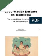 La Formación Docente en Tecnología