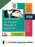 Certificación en Imagen, Etiqueta & Protocolo , Nov 2015