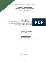Raport Privind Practica de Inițiere