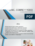 Zinc, Cobre y Yodo nutricion