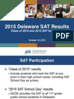 SAT Presentation to Delaware State Board of Education